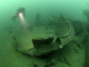 Diver on the Karls Rhue.