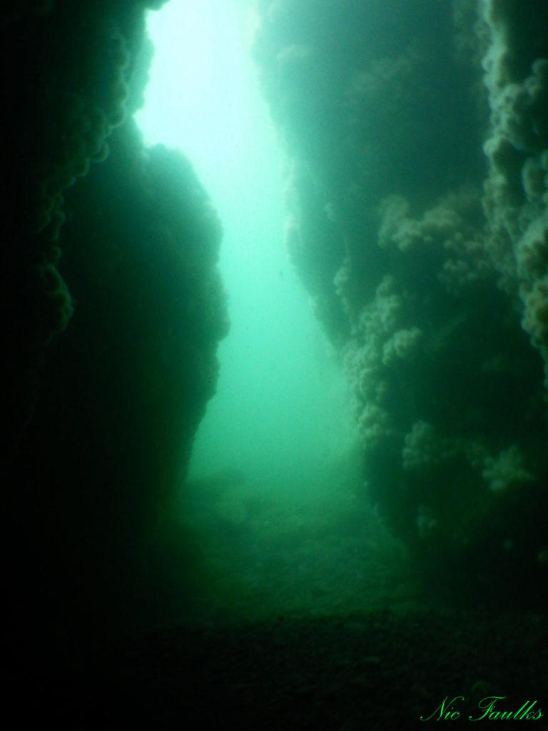 The swim through at Black Carr.