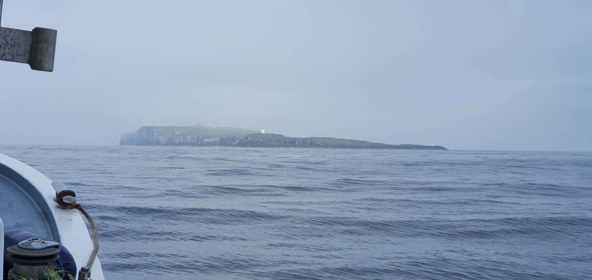 May Island emerges from the fog