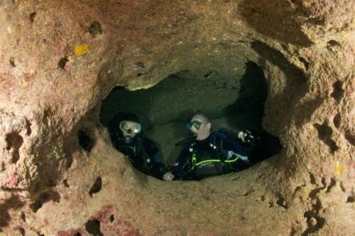 Inside Scata Manja Caves