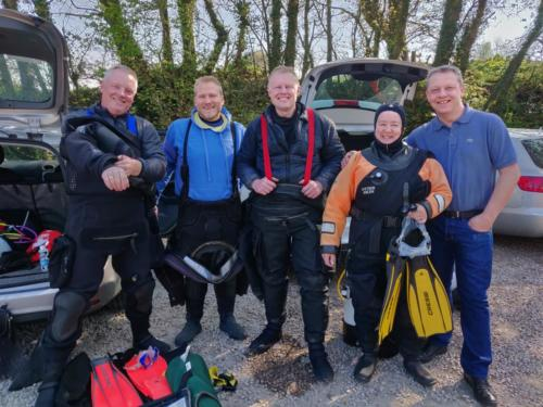 Ocean Diver trainees and instructors