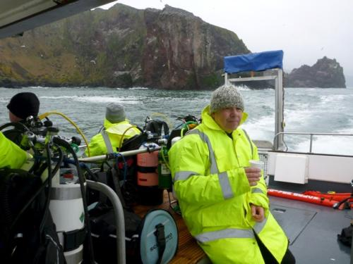 St Abbs - high vis jacket is the accessory to have!