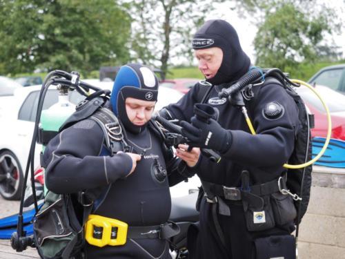Ocean diver training.